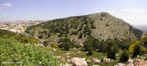 Nazareth-Mount-of-Precipitation-from-west-panorama,-tb041003219-biblelieux